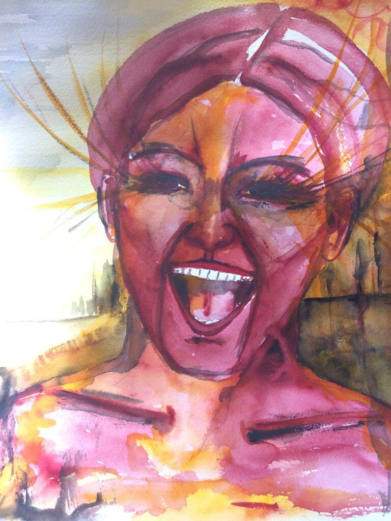 Lachen ist die beste Medizin Malerei von Sabine Hurni