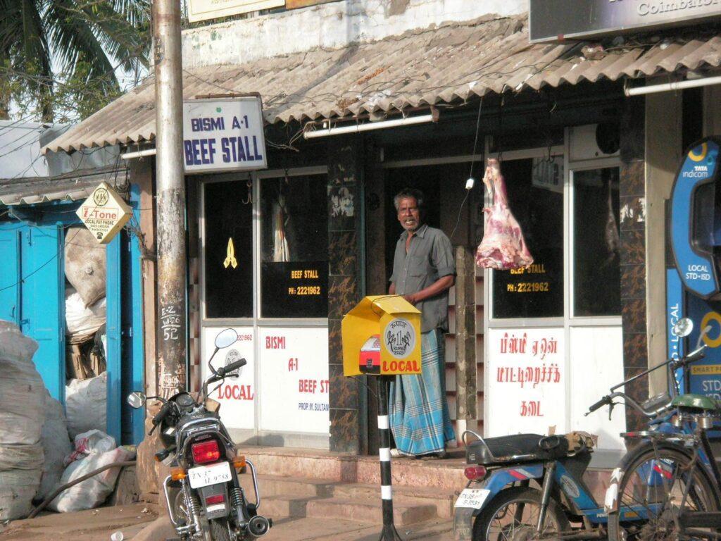 Metzgerei in Indien
